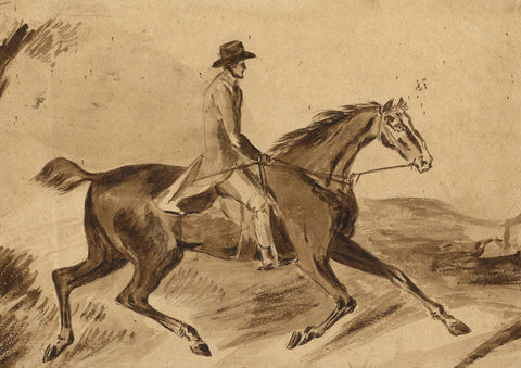 Loraine Loraine-Smith, Gentleman on Horseback - Early 19th-century watercolour