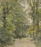 Frederick George Reynolds,A Lane Near Hornsey -19th-century watercolour painting