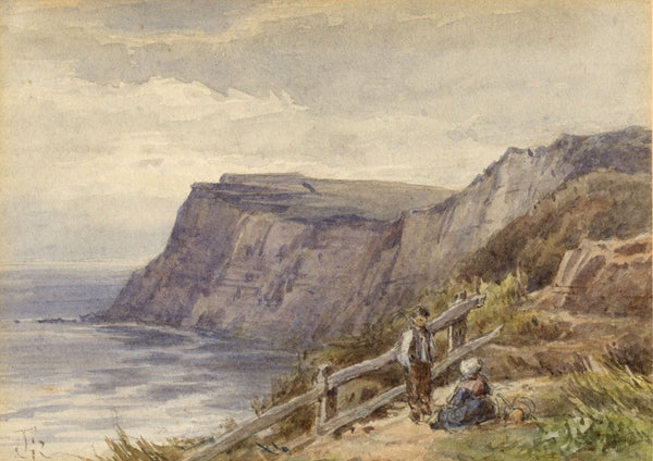 Frederick George Reynolds,Cliffs Isle of Wight,19th-century watercolour painting