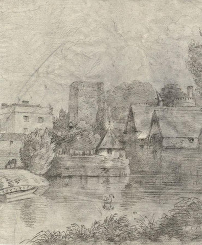 St George's Tower View, Oxford Castle - Early 19th-century graphite drawing