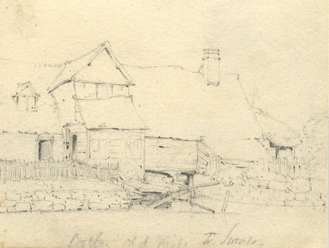 William Turner of Oxford, Botley Old Mill - Mid-19th-century graphite drawing