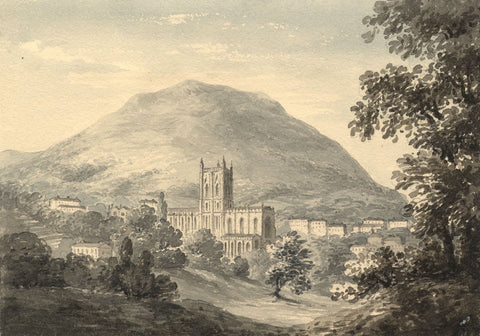 C.G., Great Malvern Priory, Worcestershire - 1830s/40s watercolour painting