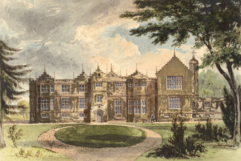 J. Heythrop, Ethorpe House, Oxfordshire - Original mid-19th-century watercolour