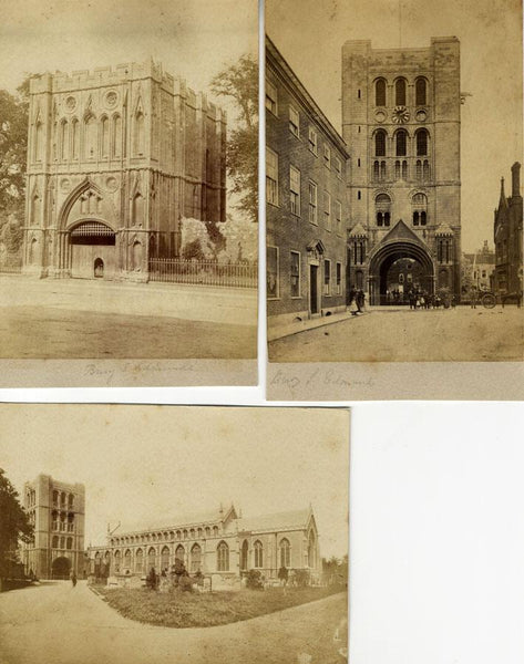 Attrib. Philip Henry Delamotte, Bury St Edmunds Abbey-Three 1860s albumen prints