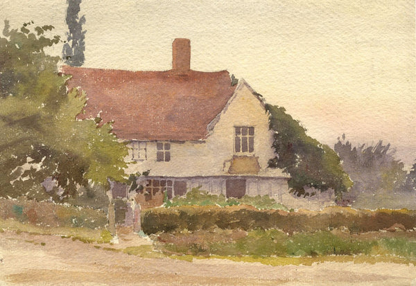 A.K. Rudd, Rural Country Cottage - Original 19th-century watercolour painting