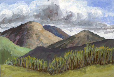 Victor Papworth, High Street Fells Lake District -Original 1970 gouache painting
