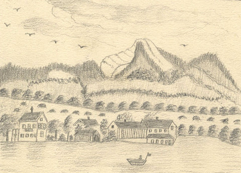 Naive School, Harbour Fisherman, Rottach-Egern, Germany - 1890 graphite drawing