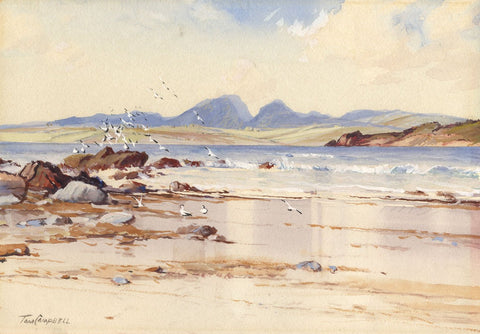 Tom Campbell, Jura Coast, Scotland - Early 20th-century watercolour painting