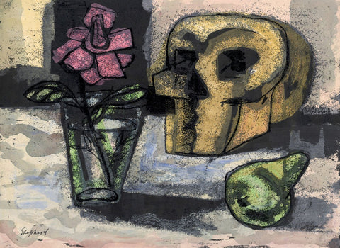 Sidney Horne Shepherd, Memento Mori Still Life - Mid-20th-century mixed media