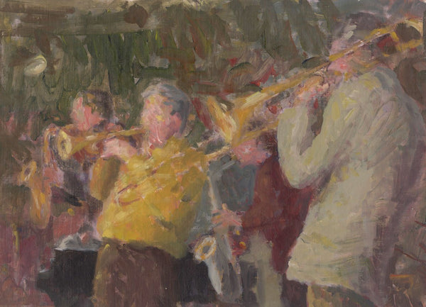 Attrib. Gordon Radford, Jazz Band Musicians - Original contemporary oil painting