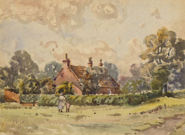 Arthur Simpson, Starling's Cottage, Thornaby-on-Tees -1930s watercolour painting