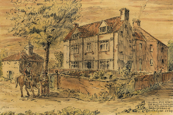 Arthur Simpson, House of Cromwell's Major Jenkins, Stockton - 1930s ink drawing