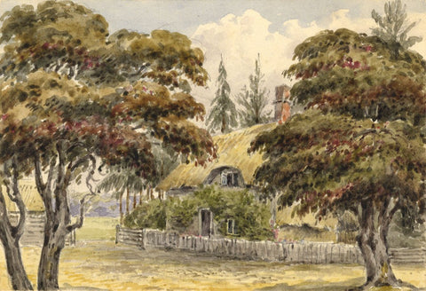 Laura Burrard, Ryman's Farm near Cranborne, Dorset - 1840 watercolour painting