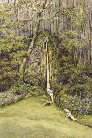 Laura Burrard, Spring at Mirables, Isle of Wight - 1826 watercolour painting