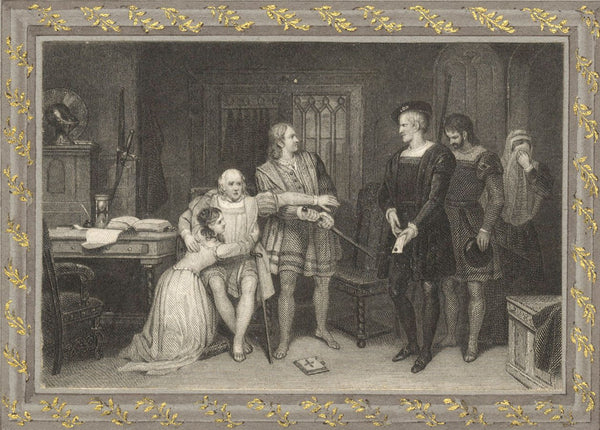 Narrative Scene Emissary to the King - Early 19th-century engraving print