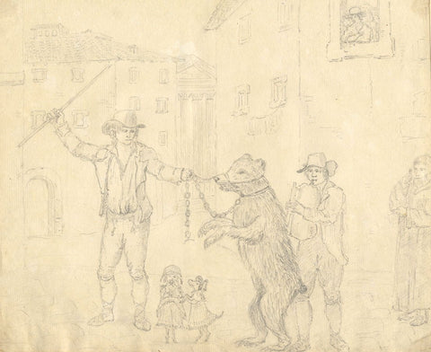 Frances Hannah Burrard, Chained Bear Dance, Italy - Early 19th-century drawing