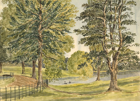 Edward Burrard, Walhampton, Lymington - Early 19th-century watercolour painting