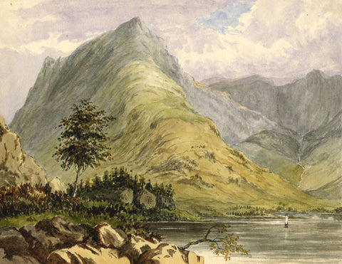 Laura Burrard, Honister Crag Cumberland - Mid-19th-century watercolour painting