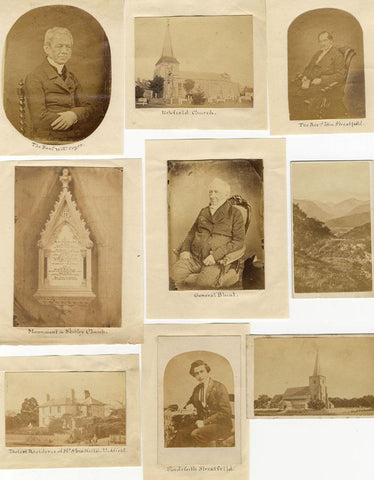 Nine 19th-century Albumen Prints Relating to the Burrard Family of Lymington