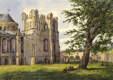 Becket's Crown, Corona, Canterbury Cathedral - 19th-century watercolour painting