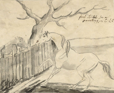 Charles Loraine-Smith, Horse & Foal Study - Early 19th-century watercolour