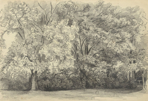 Adeline Frances Mary Dart, Croquet Lawn, Salisbury - 1867 graphite drawing