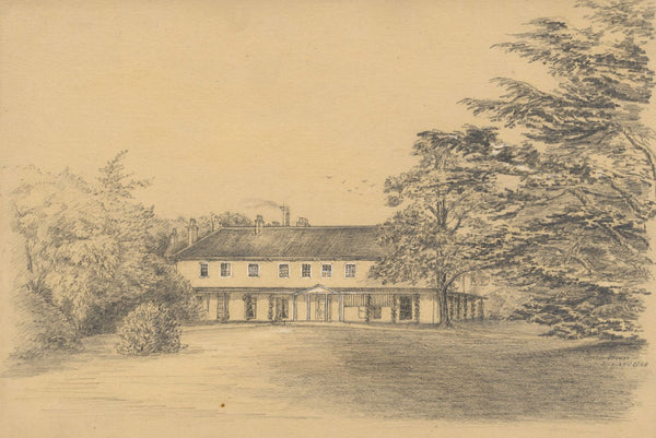 Adeline Frances Mary Dart, Beech House, Ringwood, Hants - 1868 graphite drawing