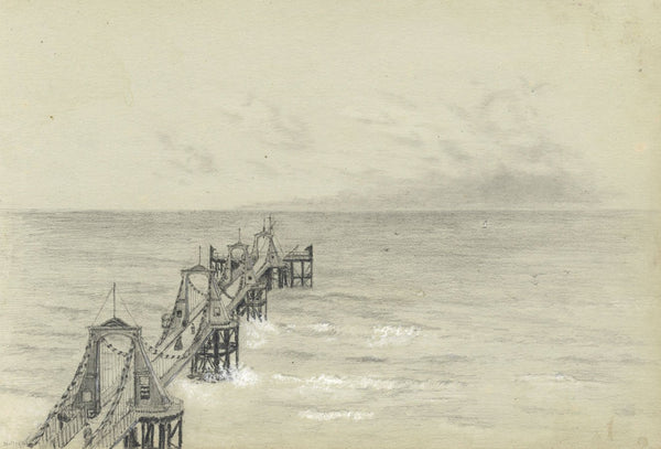 Adeline Frances Mary Dart, Royal Suspension Chain Pier, Brighton - 1860  drawing