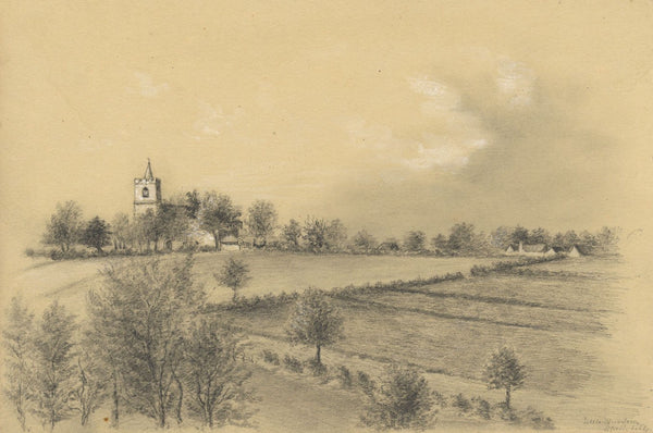 Adeline Frances Mary Dart, All Saints Church, Little Munden - 1864 drawing