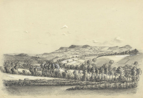 Adeline Frances Mary Dart, Lower Otter Valley, Devon - 1865 graphite drawing