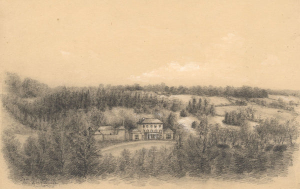 Adeline Frances Mary Dart, Dane End House, Little Munden - 1864 graphite drawing