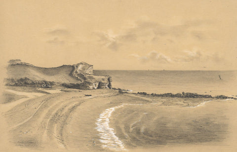 Adeline Frances Mary Dart, Rocky Bay, Devon - 1865 graphite drawing