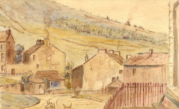 Arthur Simpson, Reeth Village, Yorkshire - Original 1922 watercolour painting