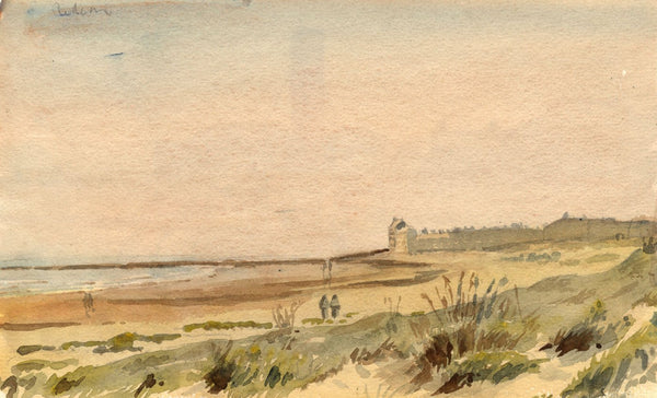 Arthur Simpson, Redcar Beach, North Yorkshire - 1922 watercolour painting