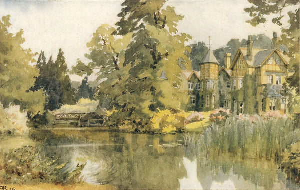 A.K. Rudd, River Arts Club, Maidenhead? - Original 1916 watercolour painting