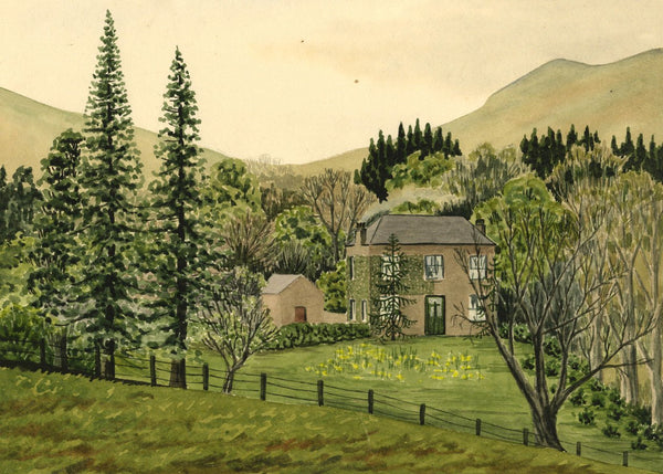 Allan Furniss, Carruthers Farm, Waterbeck, Dumfries - 1940s watercolour painting