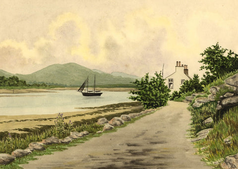 Allan Furniss, River Urr, Kippford, Dumfries - 1940s watercolour painting
