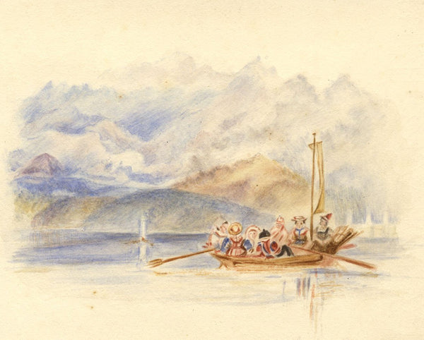 After J.M.W. Turner, Lake of Geneva, Switzerland - 1830s watercolour painting
