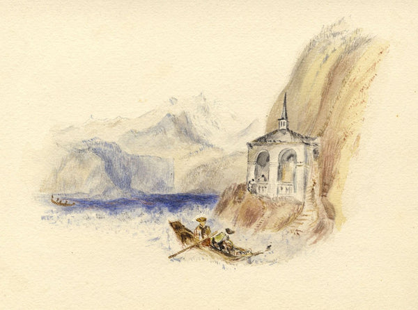 After J.M.W. Turner, Chapel of William Tell, Switzerland - 1830s watercolour