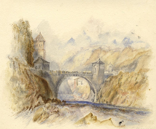 After J.M.W. Turner, St Maurice, Switzerland - 1830s watercolour painting