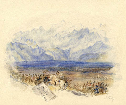 After J.M.W. Turner, Battle of Marengo - 1830s watercolour painting