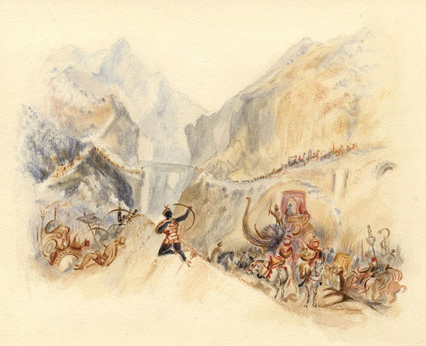 After J.M.W. Turner, Hannibal Passing the Alps - 1830s watercolour painting