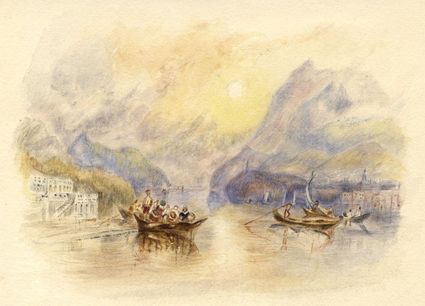 After J.M.W. Turner, Lake of Como, Italy - 1830s watercolour painting
