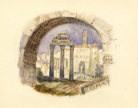 After J.M.W. Turner, The Forum, Rome, Italy - 1830s watercolour painting