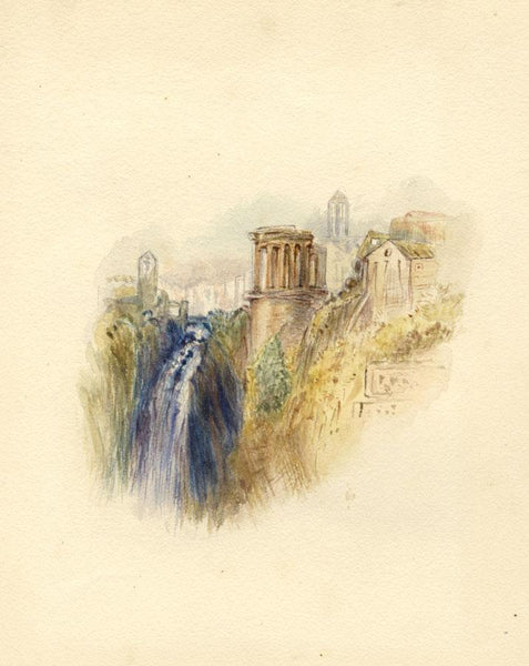 After J.M.W. Turner, Tivoli, Italy - 1830s watercolour painting