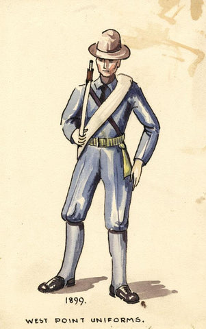 West Point Uniform 1899, United States - Early 20th-century watercolour painting