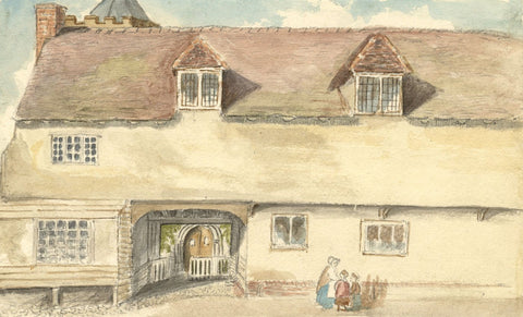 Old School House, Felsted, Essex - Late 19th-century watercolour painting