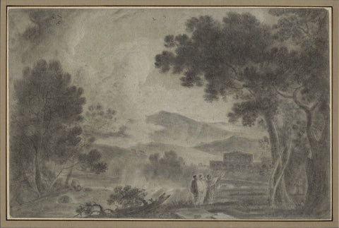 After Richard Wilson RA, Cicero at his Villa - 18th-century chalk drawing