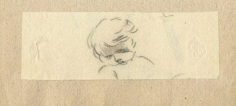 William Lock the Younger, Head Study of a Child - c.1780 charcoal drawing