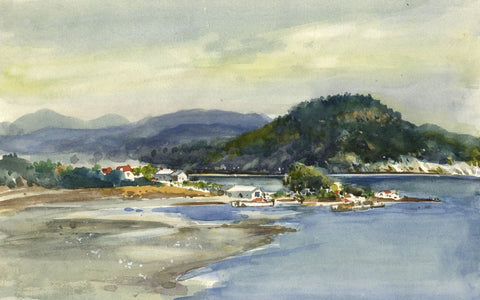 Frank Henry Mason RBA RI RSMA, Brevik, Norway - 1953 watercolour painting